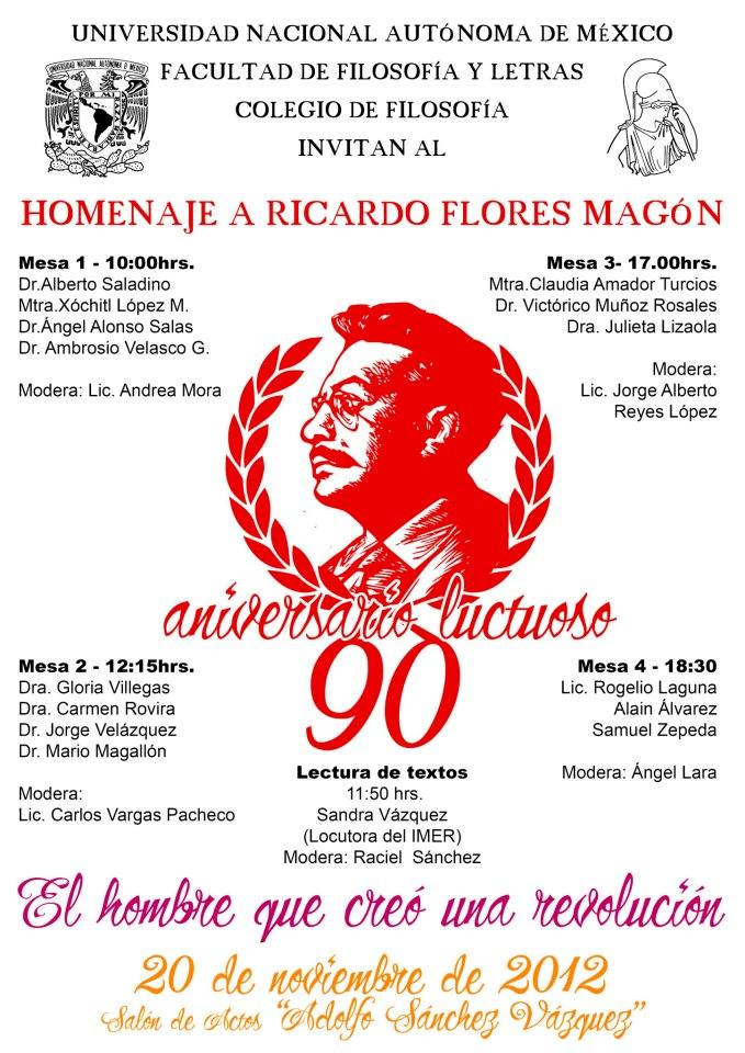 Homenaje a Ricardo Flores Magón por su 90 aniversario luctuoso