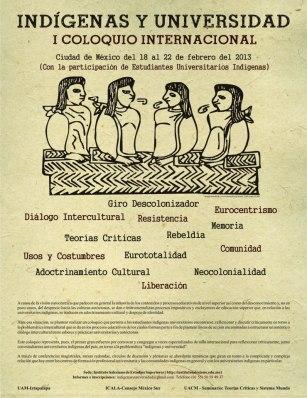 """I Coloquio Internacional: """"Indígenas y universidad"""""""