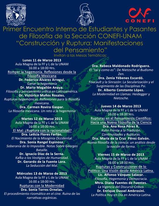 CONEFI UNAM Temáticas 2013