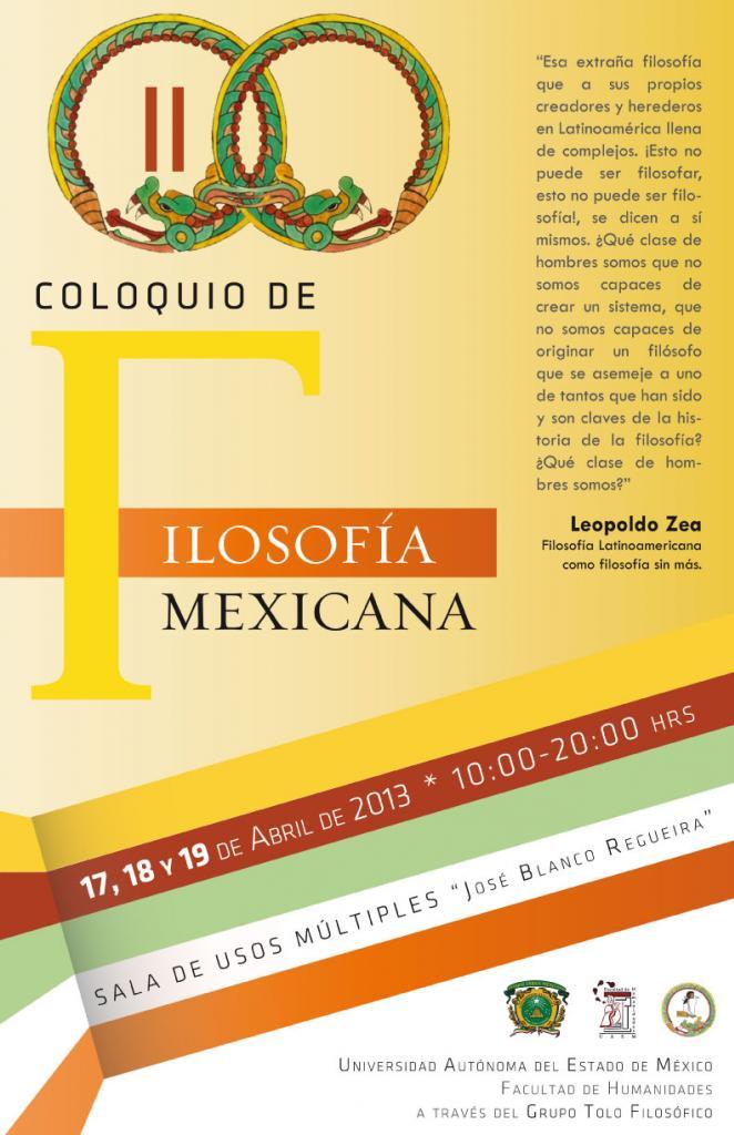 Cartel Segundo Coloquio de Filosofía Mexicana