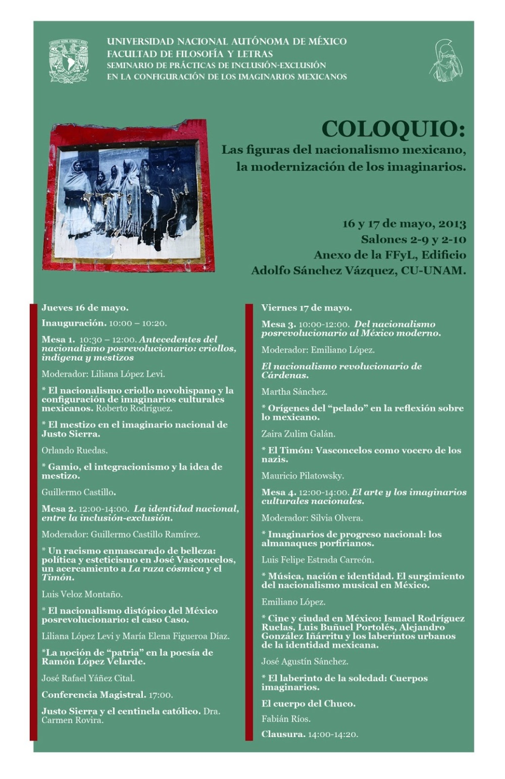 Coloquio Figuras del nacionalismo mexicano