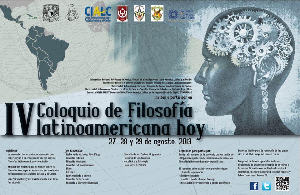 IV Filosofía latinomericana hoy
