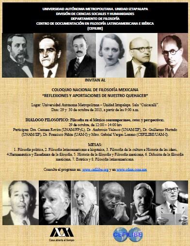 Coloquio Nacional de FIlosofía Mexicana