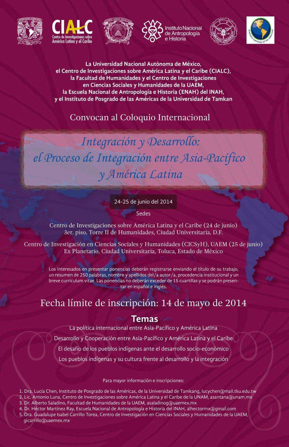 cartel Integración desarrollo