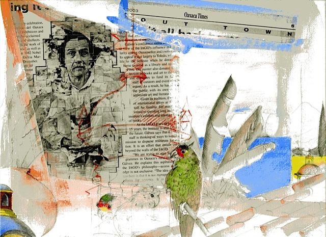 Collage de Mari Le Glatin-Keis, publicado en Sinfín