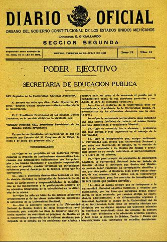 Diario Oficial 26 julio 1929