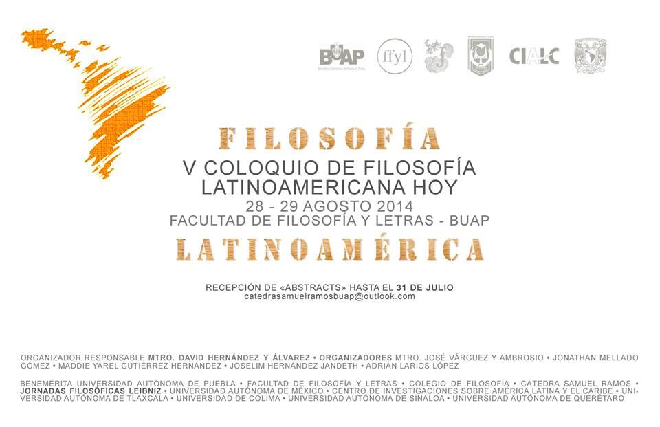 Filosofía Latinoamericana BUAP, 2014