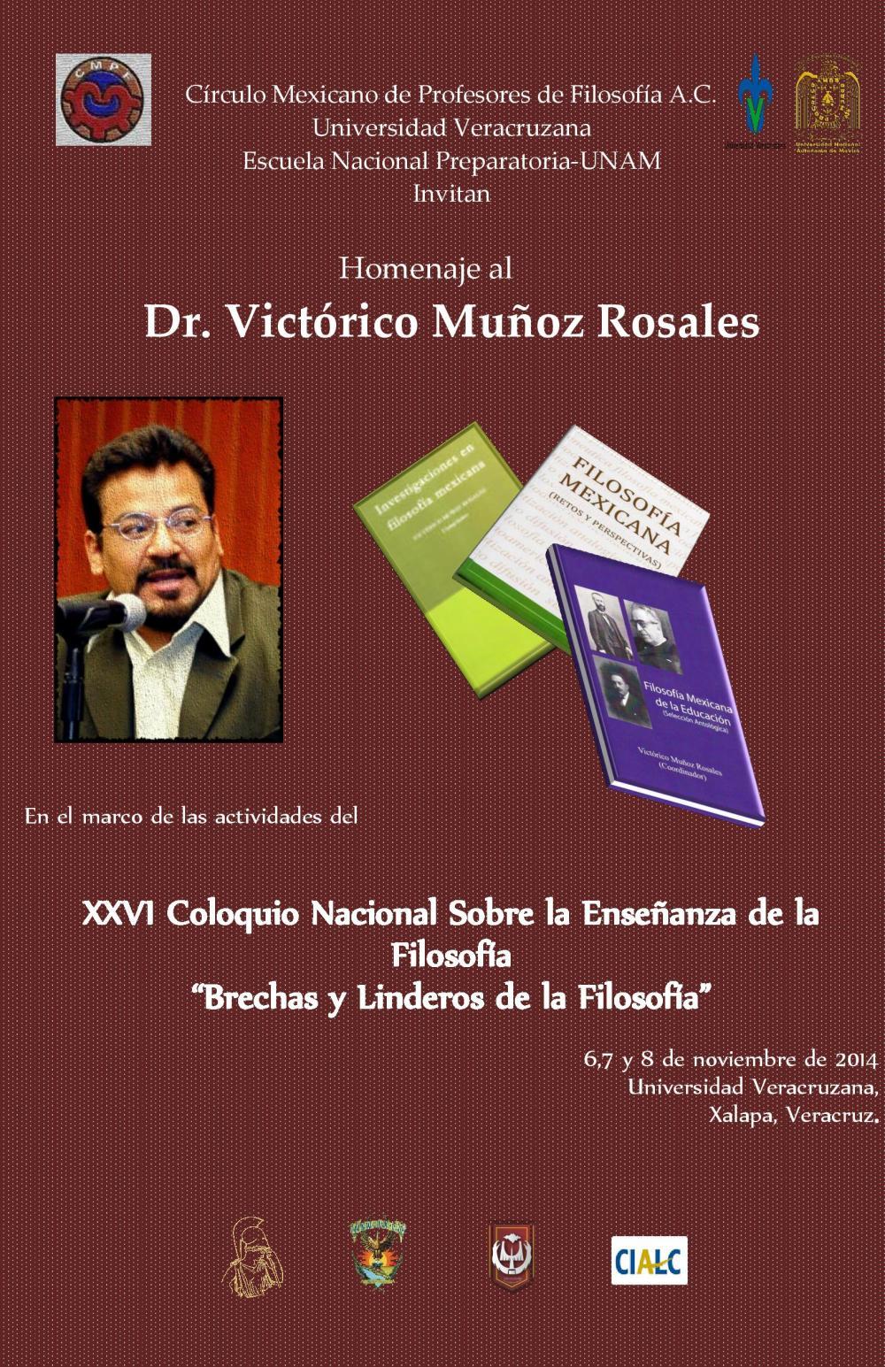 Homenaje Victórico Muñoz Rosales