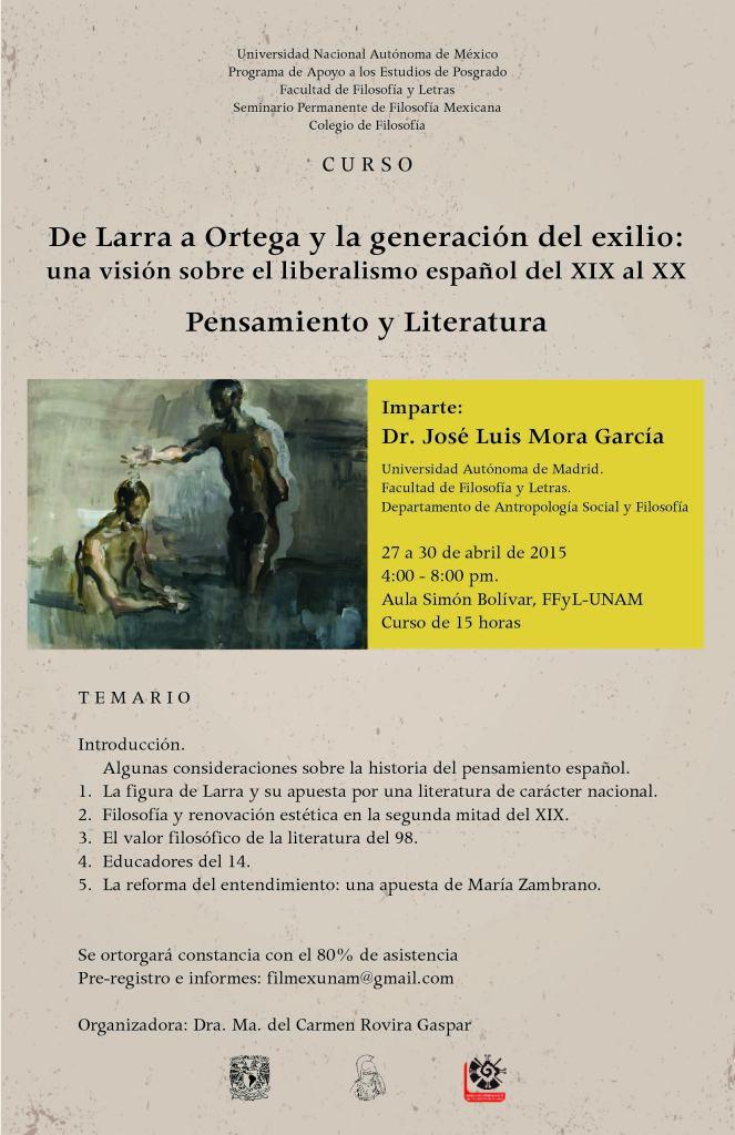 Cartel Curso Larra-Mora