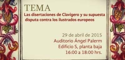 Dra. Aspe - Disertaciones de Clavigero II