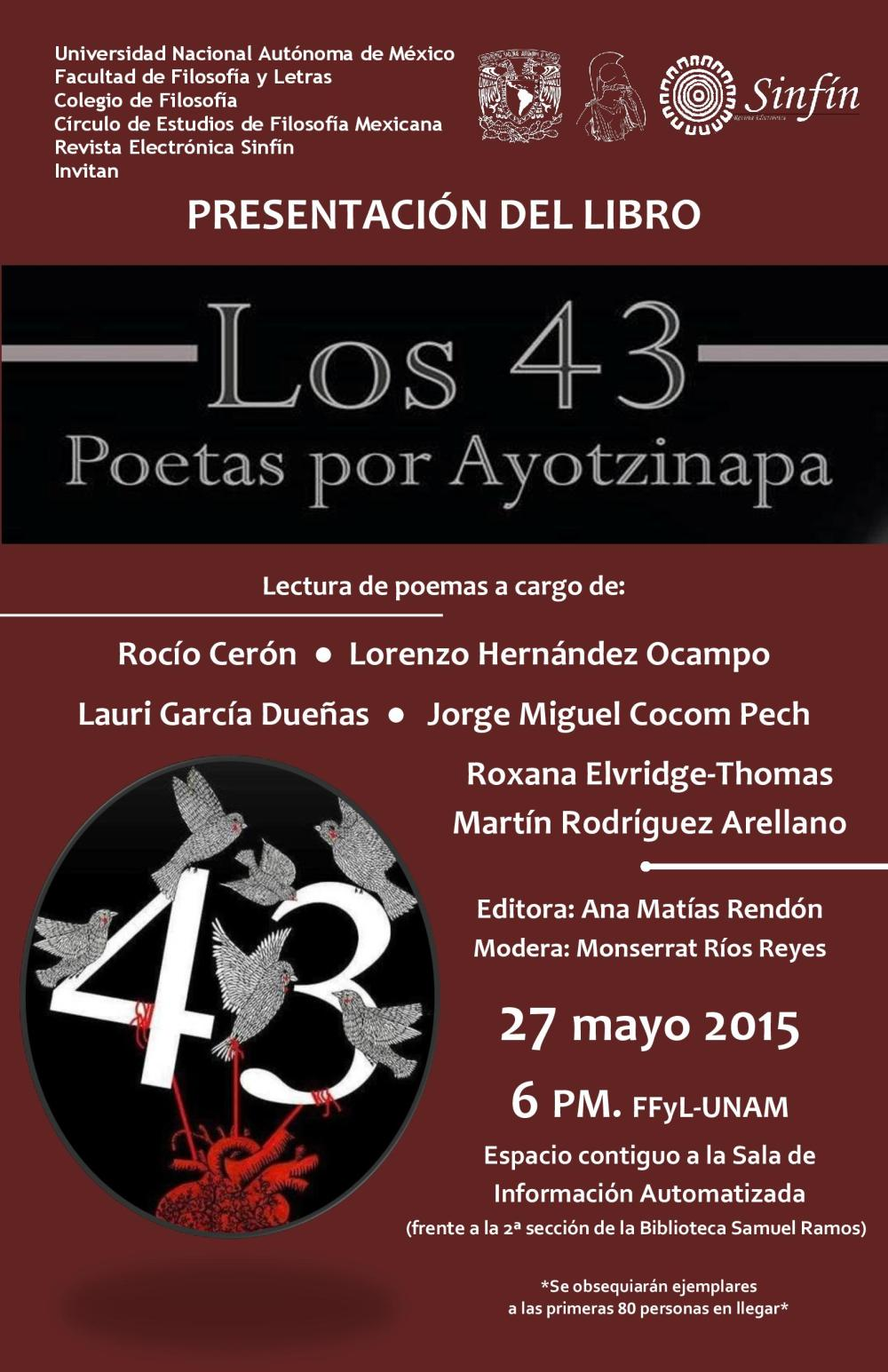 Los 43. Poetas por Ayotzinapa-H001