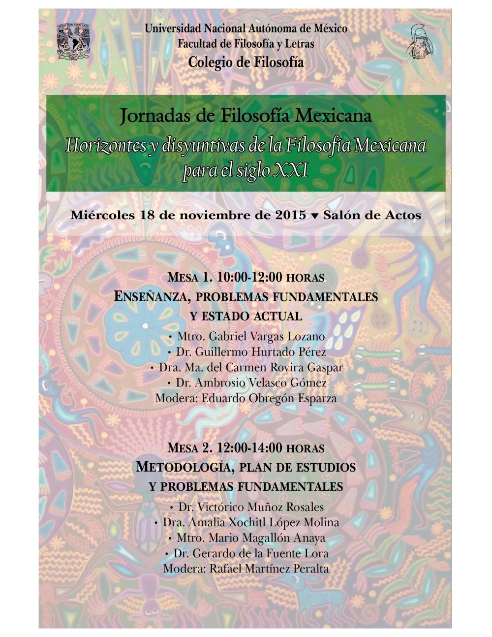 Jornadas Filosofía mexicana
