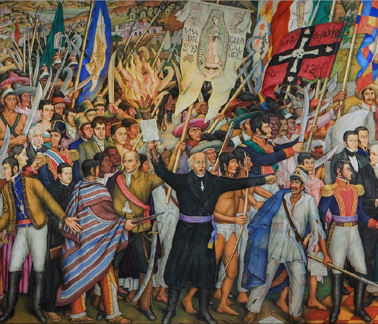 """Fragmento del """"Retablo de la Independencia"""" (1960-1961), de Juan O'Gorman."""