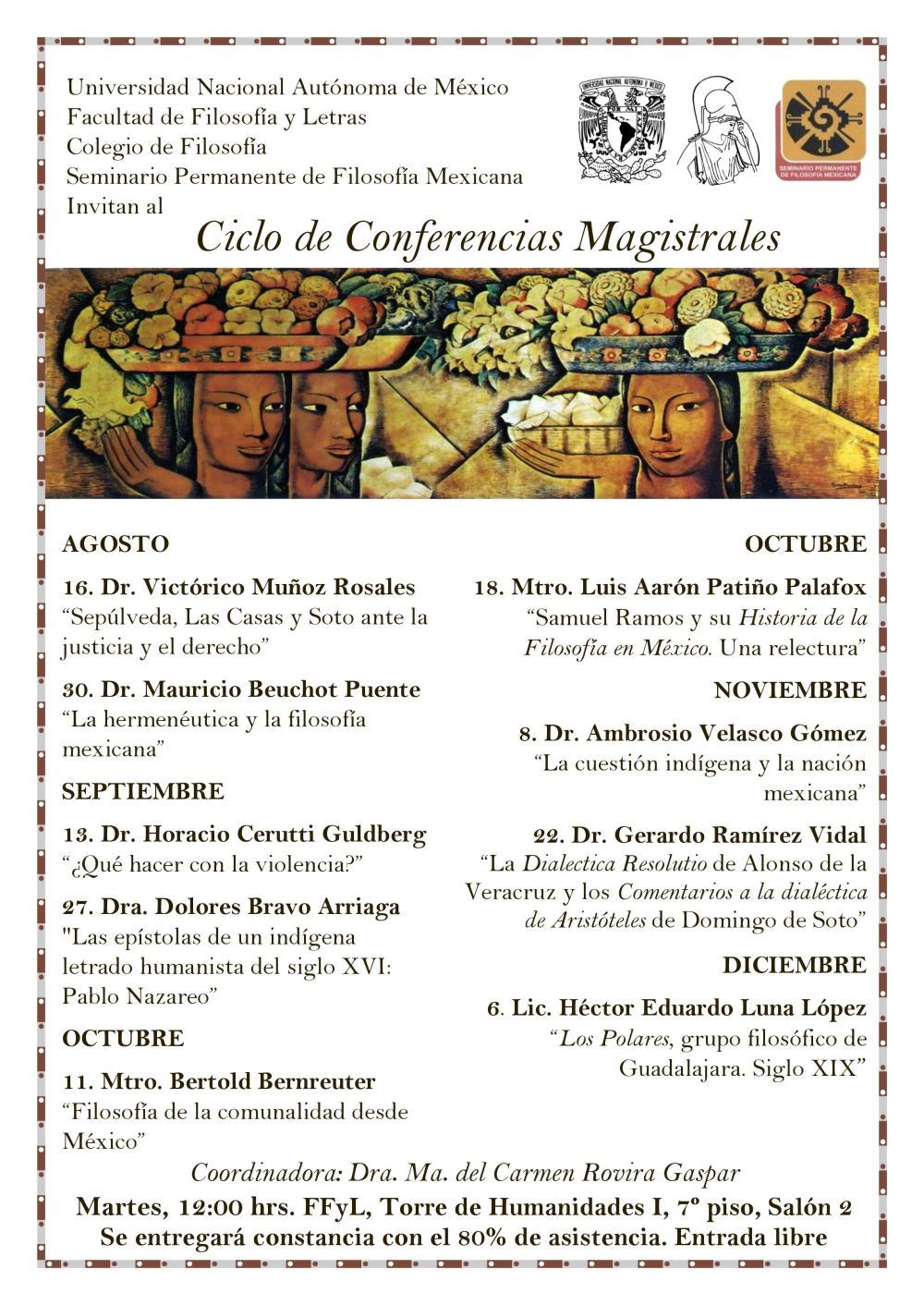 Cartel Conferencias Magistrales 2017-1