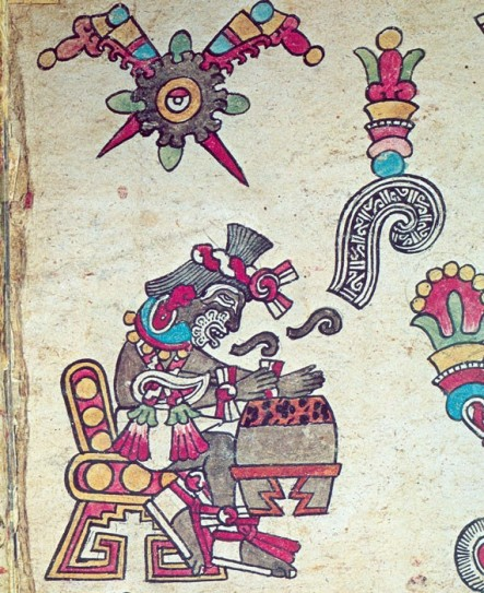 xochipilli-entona-un-canto-y-tane-un-huehuetl-codice-borbonico-p-4