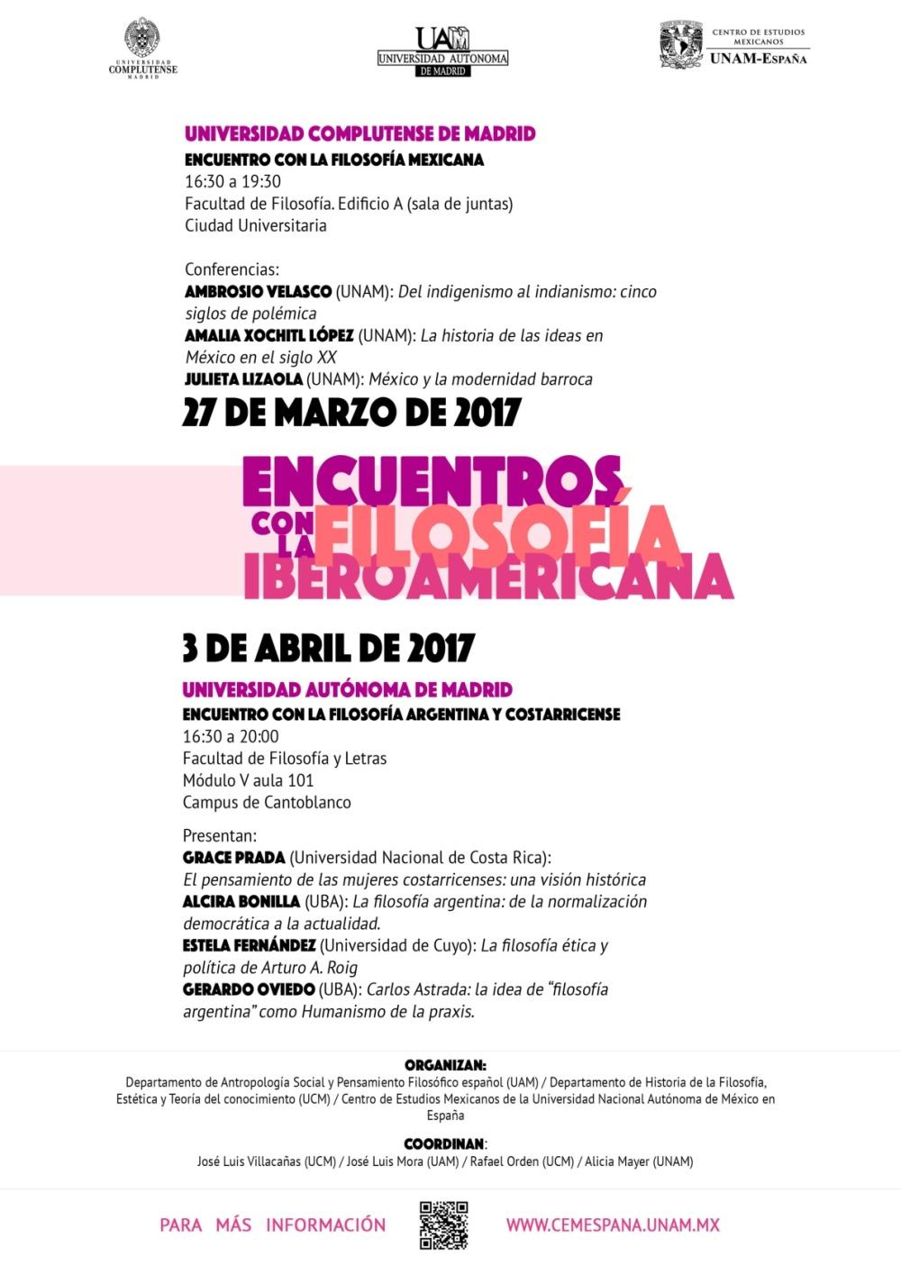 Encuentro España Filosofía Mexicana 2017-001