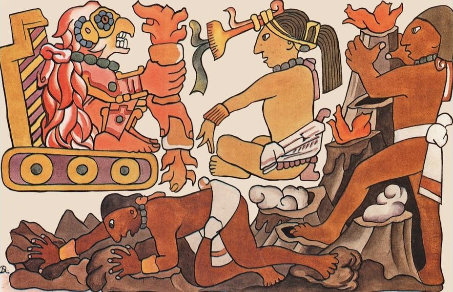 Diego Rivera - La creación de los montes (1932). Inspirado en el Popol Vuh