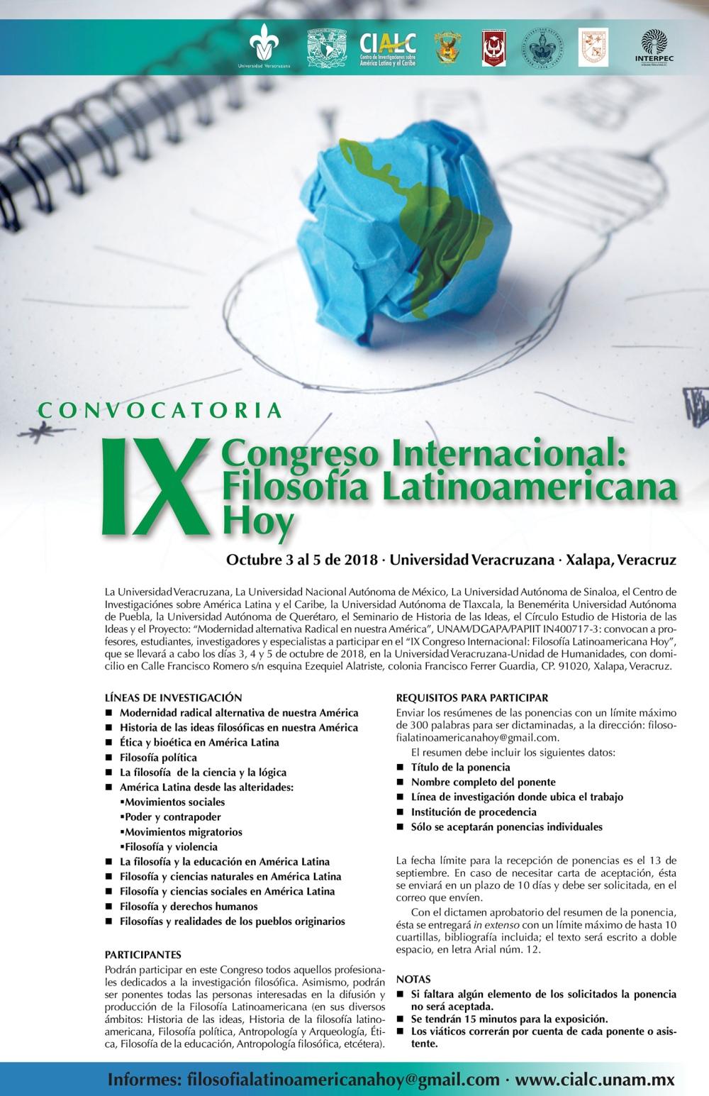 IX CONGRASO FIL LAT HOY