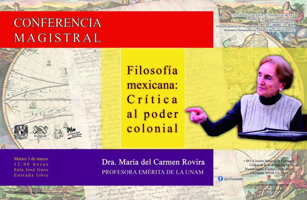 Carmen Rovira. Conferencia IIF 030220